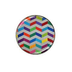 Charming Chevrons Quilt Hat Clip Ball Marker (10 Pack)