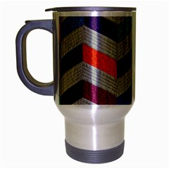 Charming Chevrons Quilt Travel Mug (silver Gray)