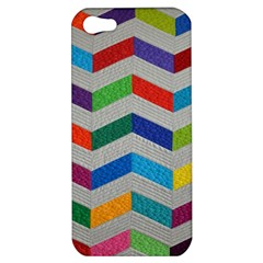 Charming Chevrons Quilt Apple Iphone 5 Hardshell Case