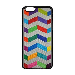 Charming Chevrons Quilt Apple Iphone 6/6s Black Enamel Case