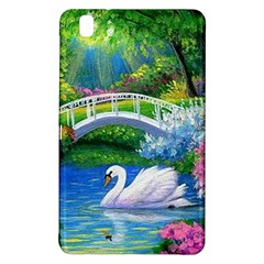 Swan Bird Spring Flowers Trees Lake Pond Landscape Original Aceo Painting Art Samsung Galaxy Tab Pro 8 4 Hardshell Case