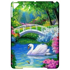 Swan Bird Spring Flowers Trees Lake Pond Landscape Original Aceo Painting Art Apple Ipad Pro 9 7   Hardshell Case by BangZart