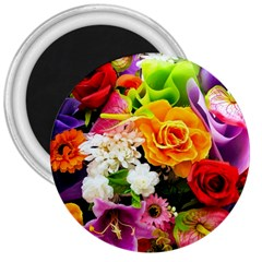 Colorful Flowers 3  Magnets by BangZart