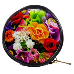 Colorful Flowers Mini Makeup Bags