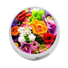 Colorful Flowers 4 Port Usb Hub (two Sides)