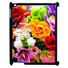 Colorful Flowers Apple Ipad 2 Case (black)