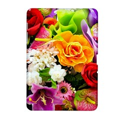 Colorful Flowers Samsung Galaxy Tab 2 (10 1 ) P5100 Hardshell Case  by BangZart