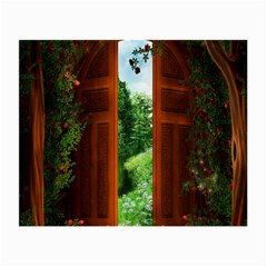 Beautiful World Entry Door Fantasy Small Glasses Cloth