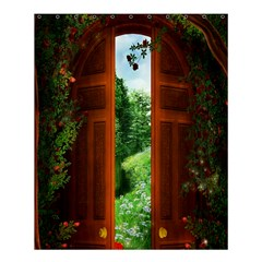 Beautiful World Entry Door Fantasy Shower Curtain 60  X 72  (medium)  by BangZart