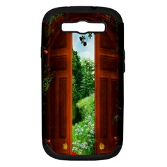 Beautiful World Entry Door Fantasy Samsung Galaxy S Iii Hardshell Case (pc+silicone) by BangZart