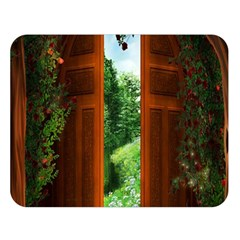 Beautiful World Entry Door Fantasy Double Sided Flano Blanket (large)