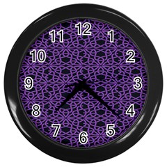Triangle Knot Purple And Black Fabric Wall Clocks (black) by BangZart