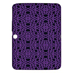 Triangle Knot Purple And Black Fabric Samsung Galaxy Tab 3 (10 1 ) P5200 Hardshell Case