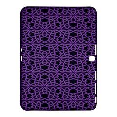 Triangle Knot Purple And Black Fabric Samsung Galaxy Tab 4 (10 1 ) Hardshell Case  by BangZart