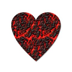 Volcanic Textures  Heart Magnet by BangZart
