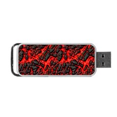 Volcanic Textures  Portable Usb Flash (one Side)