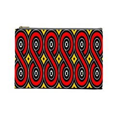 Toraja Traditional Art Pattern Cosmetic Bag (large)  by BangZart