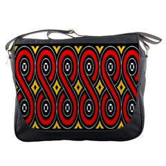 Toraja Traditional Art Pattern Messenger Bags by BangZart