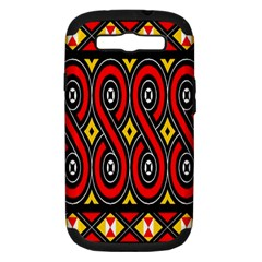 Toraja Traditional Art Pattern Samsung Galaxy S Iii Hardshell Case (pc+silicone)