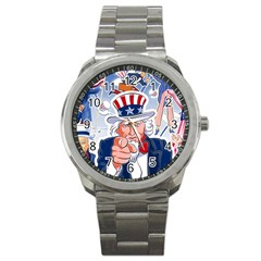 Independence Day United States Of America Sport Metal Watch by BangZart