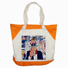Independence Day United States Of America Accent Tote Bag by BangZart