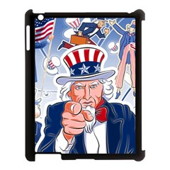 Independence Day United States Of America Apple Ipad 3/4 Case (black) by BangZart
