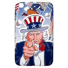 Independence Day United States Of America Samsung Galaxy Tab 3 (8 ) T3100 Hardshell Case  by BangZart