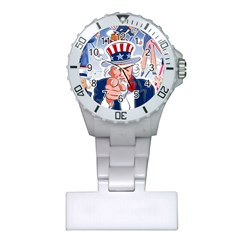 Independence Day United States Of America Plastic Nurses Watch by BangZart