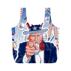 Independence Day United States Of America Full Print Recycle Bags (m)