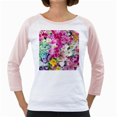 Colorful Flowers Patterns Girly Raglans