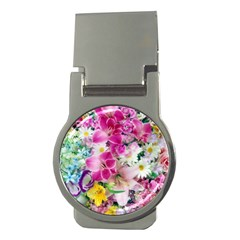 Colorful Flowers Patterns Money Clips (round)