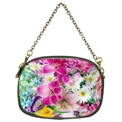 Colorful Flowers Patterns Chain Purses (two Sides)