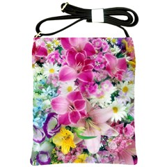 Colorful Flowers Patterns Shoulder Sling Bags