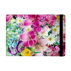 Colorful Flowers Patterns Apple Ipad Mini Flip Case by BangZart