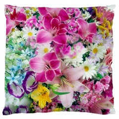 Colorful Flowers Patterns Standard Flano Cushion Case (one Side)