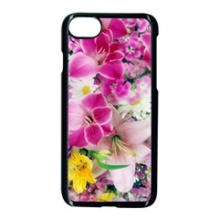 Colorful Flowers Patterns Apple Iphone 7 Seamless Case (black) by BangZart