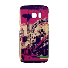Pink City Retro Vintage Futurism Art Galaxy S6 Edge