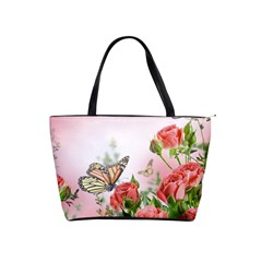 Flora Butterfly Roses Shoulder Handbags