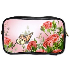 Flora Butterfly Roses Toiletries Bags