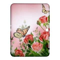 Flora Butterfly Roses Samsung Galaxy Tab 4 (10 1 ) Hardshell Case