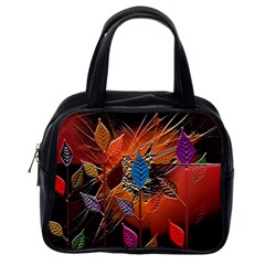 Colorful Leaves Classic Handbags (one Side) by BangZart
