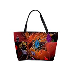 Colorful Leaves Shoulder Handbags by BangZart