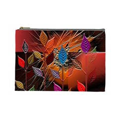 Colorful Leaves Cosmetic Bag (large)