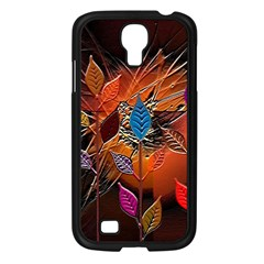 Colorful Leaves Samsung Galaxy S4 I9500/ I9505 Case (black) by BangZart