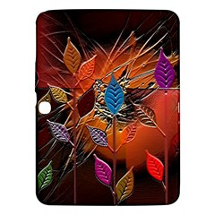 Colorful Leaves Samsung Galaxy Tab 3 (10 1 ) P5200 Hardshell Case  by BangZart