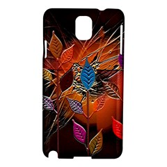 Colorful Leaves Samsung Galaxy Note 3 N9005 Hardshell Case by BangZart