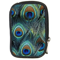 Feathers Art Peacock Sheets Patterns Compact Camera Cases