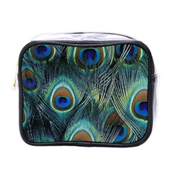 Feathers Art Peacock Sheets Patterns Mini Toiletries Bags by BangZart
