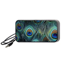 Feathers Art Peacock Sheets Patterns Portable Speaker (black)
