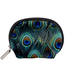 Feathers Art Peacock Sheets Patterns Accessory Pouches (small)  by BangZart